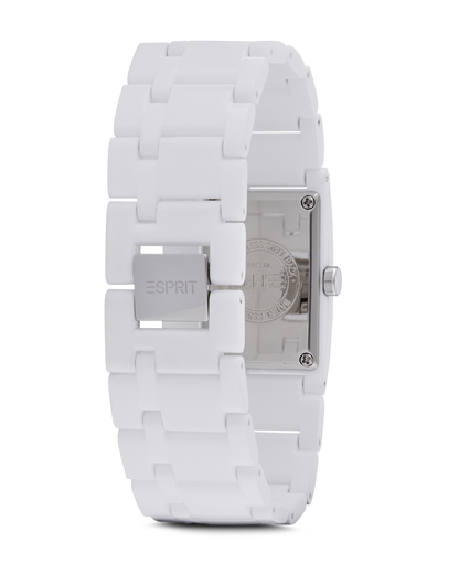 Quarzuhr Time Houston Funky Pure White ES103362002 Esprit Damen Kunststoff 4891945126308