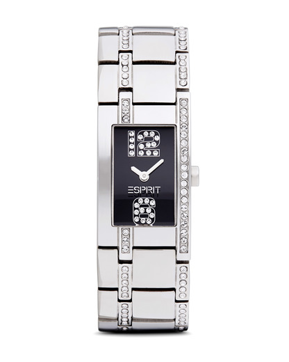 Quarzuhr Time 12/6 Black Houston ES000M02906 Esprit schwarz,silber 4891945097233