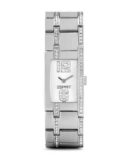 Quarzuhr Time 12/6 Silver Houston ES000M02902 Esprit silber,weiß 4891945097196