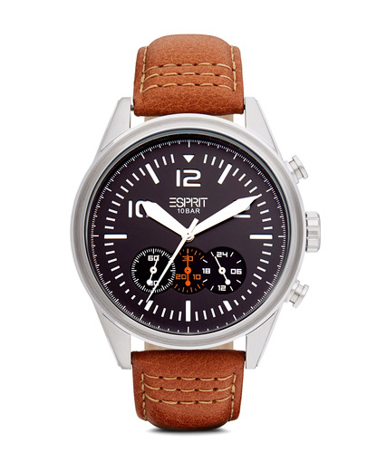 Chronograph Time Chester Chrono Brown ES106321001 Esprit braun,schwarz,silber 4891945166793