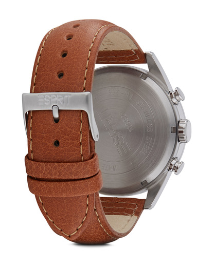 Chronograph Time Chester Chrono Brown ES106321001 Esprit Herren Leder 4891945166793