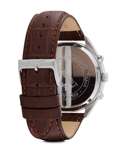 Chronograph Time Glandale Brown ES106261002 Esprit Herren Leder 4891945166656