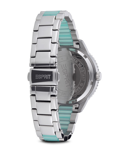 Quarzuhr Time Marin Marin Lucent Speed Mint ES106202003 Esprit Damen Edelstahl 4891945165789
