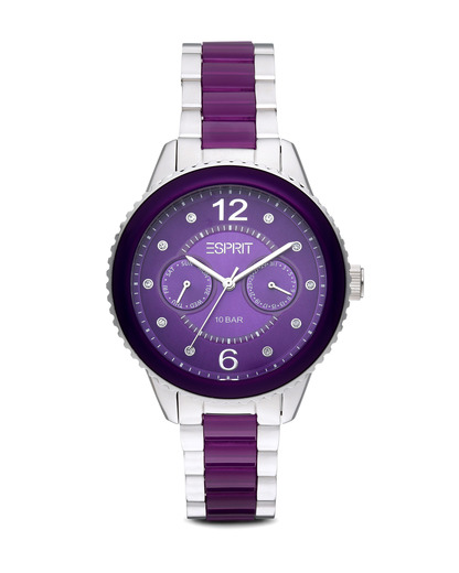 Quarzuhr Time Marin Marin Lucent Speed Purple ES106202006 Esprit silber,violett 4891945165819
