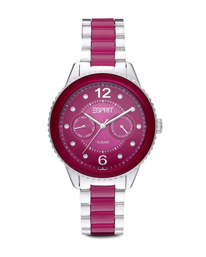 Quarzuhr Time Marin Marin Lucent Speed Berry ES106202007 Esprit pink,silber 4891945165826