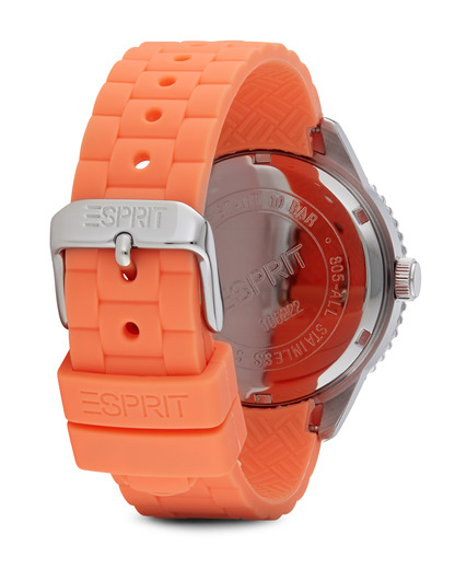 Quarzuhr Time Marin Marin Glints Speed Coral ES106222004 Esprit Damen Silikon 4891945165963