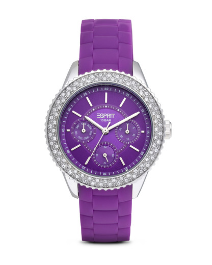 Quarzuhr Time Marin Marin Glints Speed Purple ES106222005 Esprit silber,violett 4891945165970