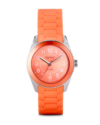 Quarzuhr Time Marin Mini Marin 68 Coral ES106424007 Esprit orange,silber 4891945163570