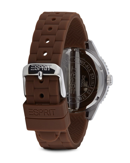 Quarzuhr Time Marin Marin 68 Brown Chocolate ES105342016 Esprit Damen Silikon 4891945160906