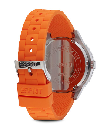 Quarzuhr Time Marin Marin 68 Speed Orange ES105332005 Esprit Damen Silikon 4891945151324