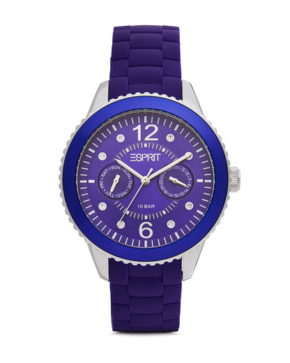 Quarzuhr Time Marin Marin 68 Speed Purple ES105332006 Esprit silber,violett 4891945151331