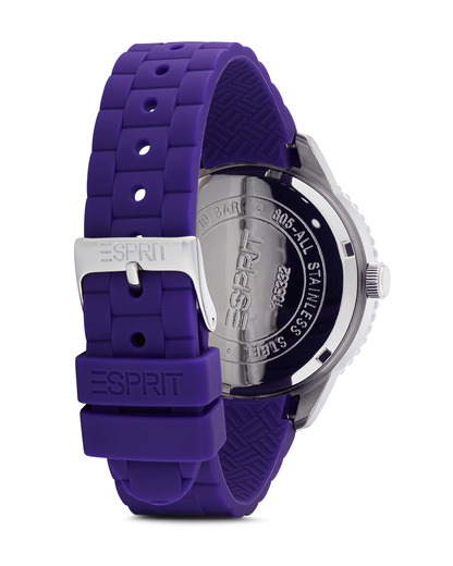 Quarzuhr Time Marin Marin 68 Speed Purple ES105332006 Esprit Damen Silikon 4891945151331