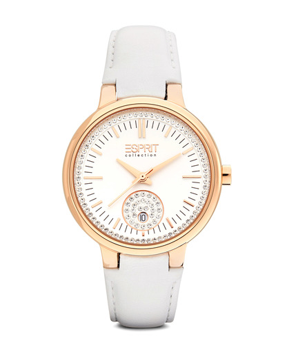 Quarzuhr Collection Time Maia Rose Gold White EL101972F04 Esprit Collection roségold,weiß 4891945168544