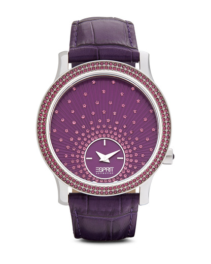 Quarzuhr Collection Time Anatole Purple EL101872F03 Esprit Collection silber,violett 4891945168872
