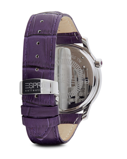 Quarzuhr Collection Time Anatole Purple EL101872F03 Esprit Collection Damen Leder 4891945168872
