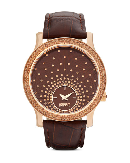Quarzuhr Collection Time Anatole Brown EL101872F05 Esprit Collection braun,roségold 4891945168896