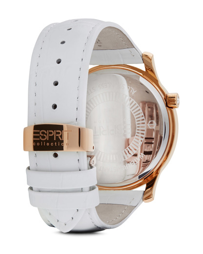 Quarzuhr Collection Time Anatole Rose Gold White EL101872F04 Esprit Collection Damen Leder 4891945168889