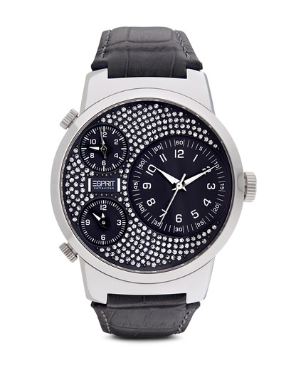 Quarzuhr Collection Time Polydora Grey EL101292F02 Esprit Collection grau,schwarz,silber 4891945139537