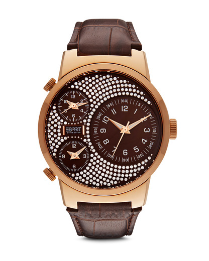 Quarzuhr Collection Time Polydora Brown EL101292F09 Esprit Collection braun,klar 4891945161385
