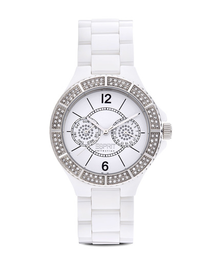 Quarzuhr Collection Time Iris Kyrtos White EL101332F05 Esprit Collection weiß 4891945139742