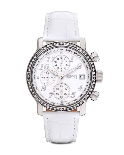 Chronograph Collection Time Pontess White EL900322002 Esprit Collection silber,weiß 4891945113339