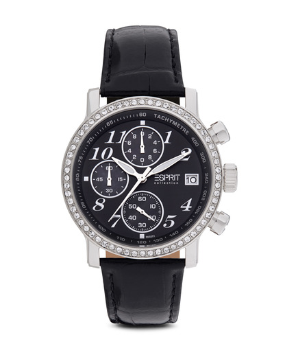Quarzuhr Collection Time Pontess Night EL900322001 Esprit Collection schwarz,silber 4891945113322