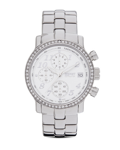 Chronograph Collection Time Pontess Silver White EL900322006 Esprit Collection silber,weiß 4891945113360