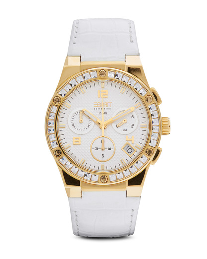Chronograph Collection Time Pherousa White Gold EL101822F06 Esprit Collection gold,mehrfarbig,weiß 4891945161491