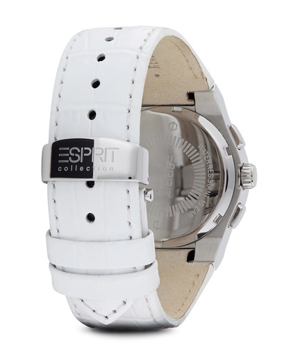 Chronograph Collection Time Pherousa White EL101822F01 Esprit Collection Damen Leder 4891945161446