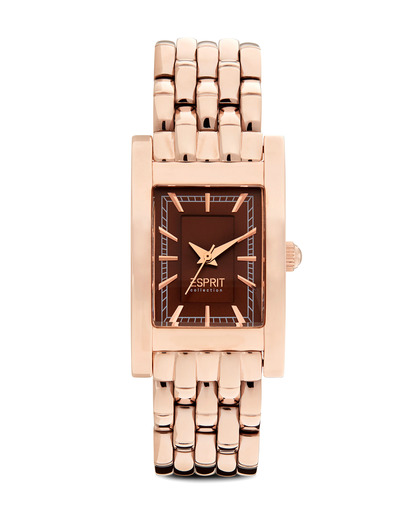 Quarzuhr Collection Time Melia Rosegold EL101492F08 Esprit Collection braun,gold 4891945152437