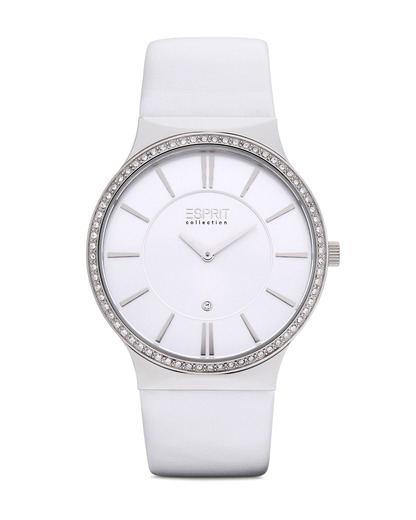 Quarzuhr Collection Time Cleodora White EL101772F02 Esprit Collection silber 4891945152574