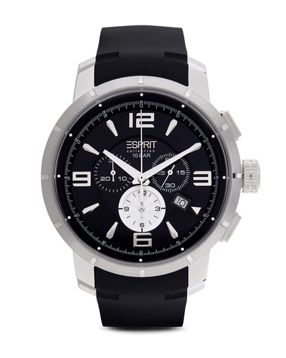 Chronograph Collection Time Ourea Black EL101921F02 Esprit Collection schwarz,silber 4891945168056