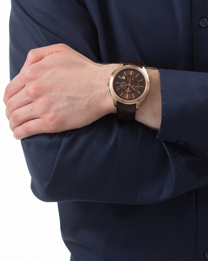 Chronograph Collection Time Herades Chrono Rose Gold Brown EL101941F06 Esprit Collection Herren Leder 4891945168377