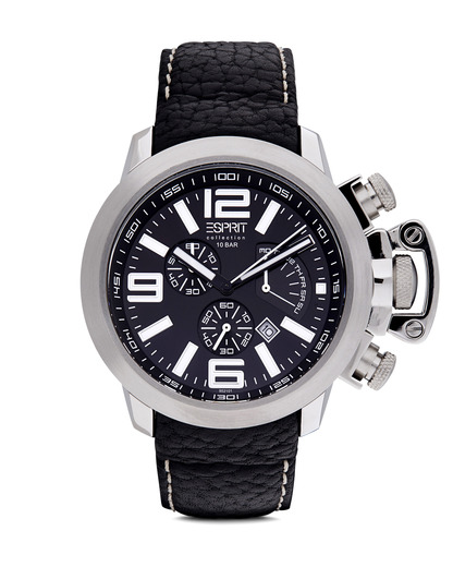 Chronograph Collection Time Uranos Black EL900211001 Esprit Collection schwarz,silber 4891945114596