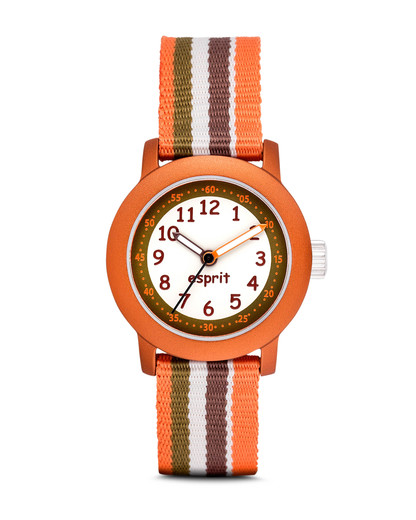 Quarzuhr Beach Stripes ES106414015 Esprit grau,orange 4891945163457