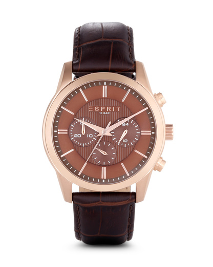 Chronograph Relay Rose Gold Brown ES106841004 Esprit braun,roségold 4891945174248