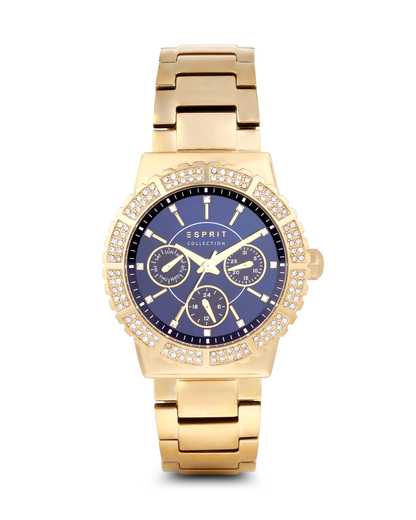 Quarzuhr Angelia EL102062F06 Esprit Collection blau,gold 4891945183493