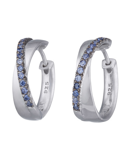 Creolen Brilliance Couple Blue 925 Sterling Silber Esprit 4891945381295