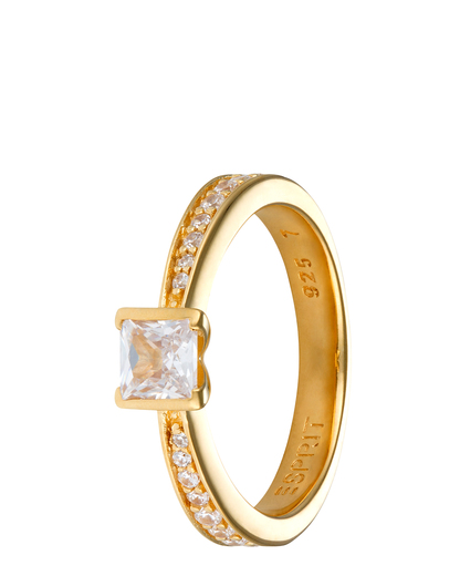 Ring Solitaire Gold 925 Sterling Silber Esprit