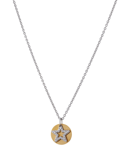 Halskette Brilliance Star Gold 925 Sterling Silber Esprit 4891945935139
