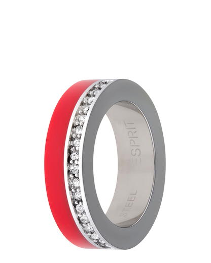 Ring Marin 68 Glam Light Red Resin Esprit