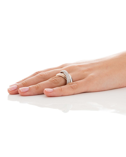 Ring Periboia Rose 925 Sterling Silber Esprit Collection mehrfarbig,roségold