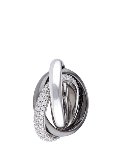 Ring Periboia Pure Black 925 Sterling Silber Esprit Collection