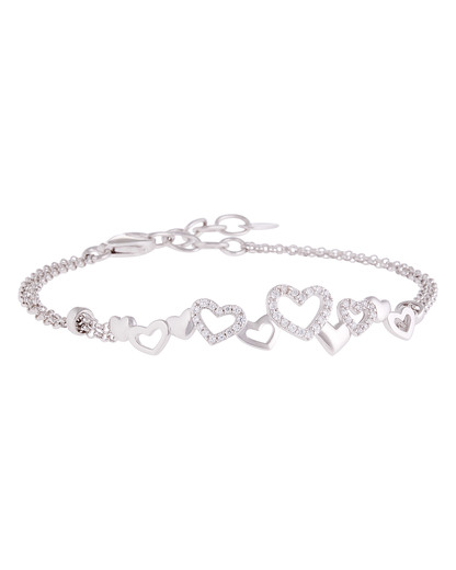Armband Pile of Hearts 925 Sterling Silber Esprit 4891945422509