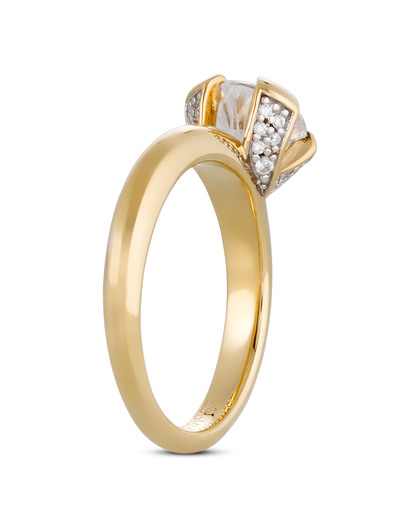 Ring 925 Sterling Silber-Zirkonia Esprit Collection gold Zirkonia