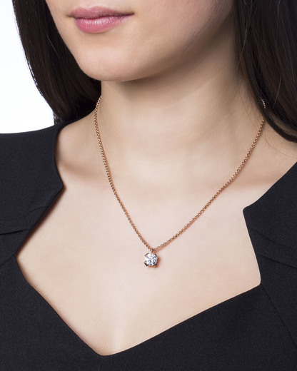 Halskette 925 Sterling Silber-Zirkonia Esprit Collection roségold Zirkonia 4891945424510