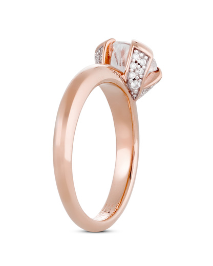 Ring 925 Sterling Silber-Zirkonia Esprit Collection roségold Zirkonia