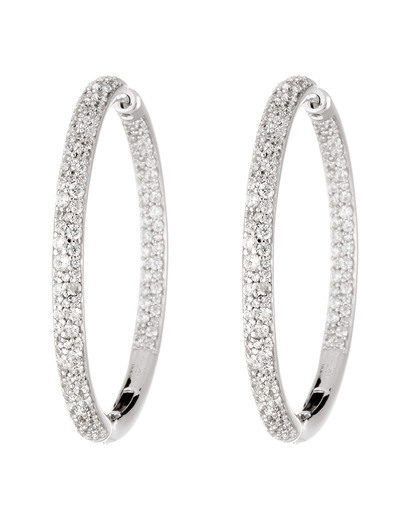 Creolen 925 Sterling Silber-Zirkonia Esprit Collection 4891945424930