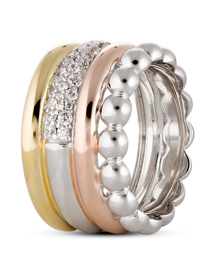Ring 925 Sterling Silber-Zirkonia Esprit Collection gold,roségold,silber Zirkonia