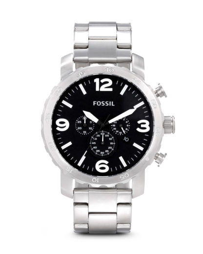 Chronograph Nate JR1353 FOSSIL schwarz,silber 4051432547409